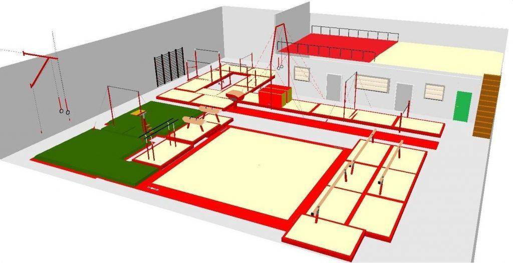 Etoile Goussainvilloise - Plan dy gymnase Albert NENEZ